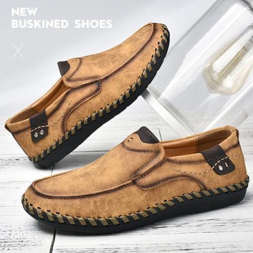 Men Handmade Loafers Leather shoes