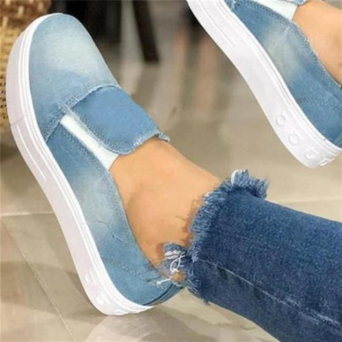 Women's Fashion Casual Canvas Plain Sneakers