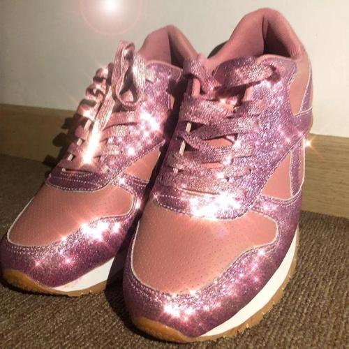 WOMEN RHINESTONE NEW CRYSTAL PLATFORM SNEAKERS