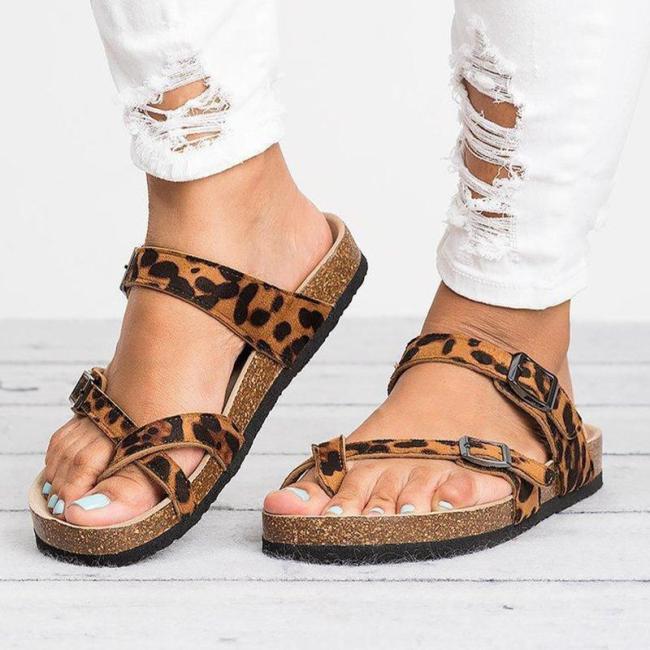Cross PU Band Flip-flop Women Simple Sandals