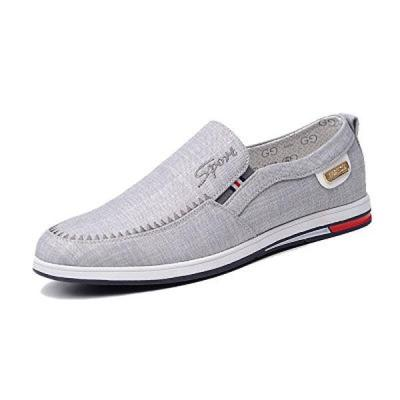 Mens Slip On Fashion Casual Canvas Flat Shoes