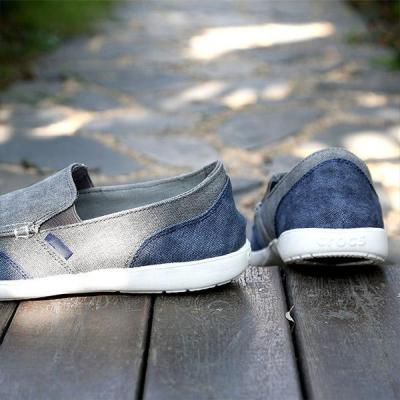 Mens Casual Canvas Color Block Slip-on Loafers