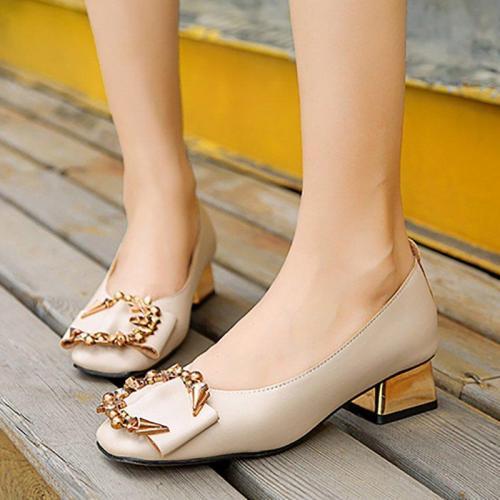Casual Comfort Chunky Heel Ankle Heels
