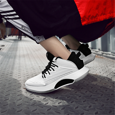 Men's casual embossed leather wild sports shoes