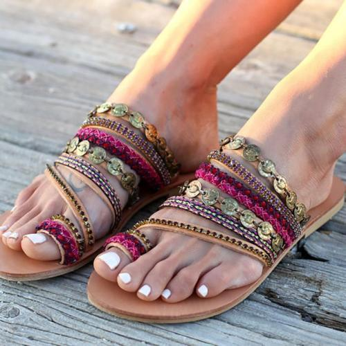 Fashion Bohemia Beach Flat Sandals