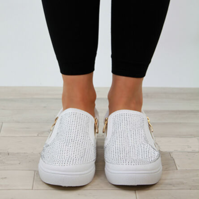 Casual Solid Color Flats Breathable Sneakers