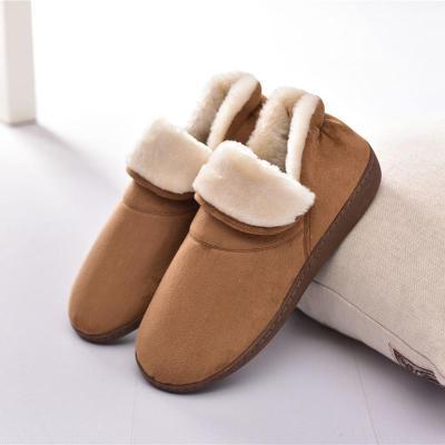 Unisex Home Plush Cotton Patchwork Slipper