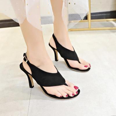 Summer New Women's Shoes Round Head High Heel Fashion Large Size Thin Heel Ladies Sandals