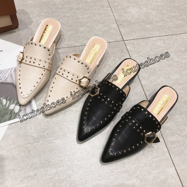 women's shoes chunky heels summer slippers