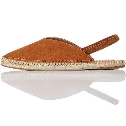Platform Espadrille Sandals Closed Toe Elastic Band Sandals