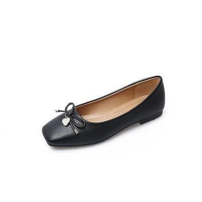PU Square Toe Bowknot Slip on Casual Tod's Comfortable Flat Loafers Simple