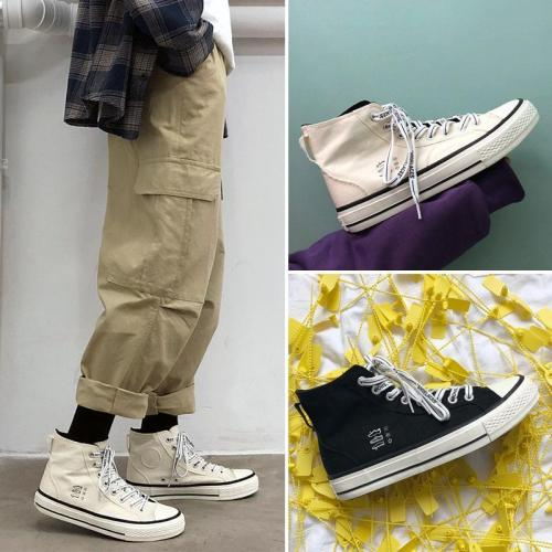 Men's High-Top Casual Lace-Up Shoes