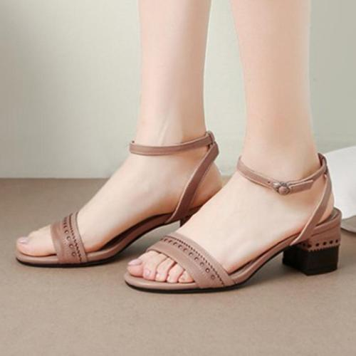 Spring/Summer Date Genuine Leather Open Toe Sandals