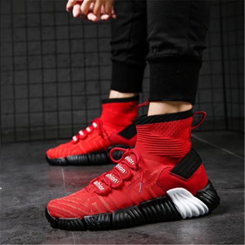 Men's slip breathable high-top sneakers