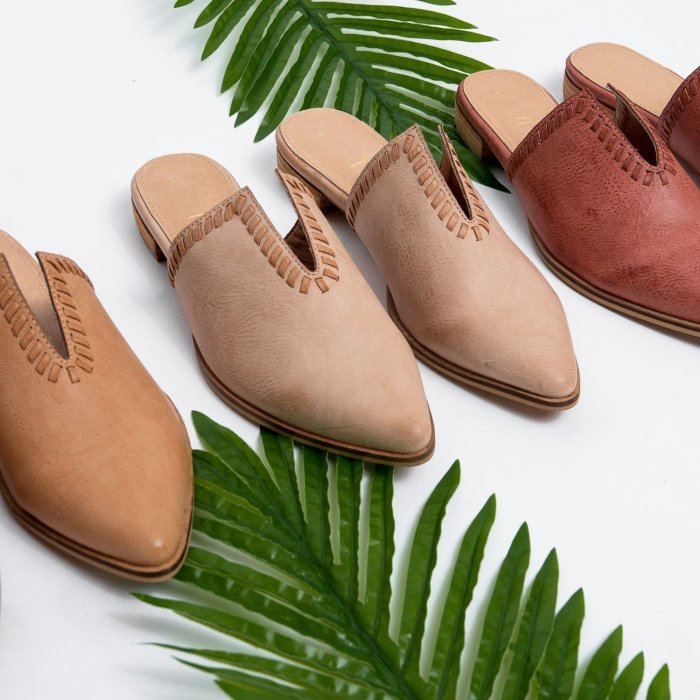 V-Cut Pointed Flat Slippers