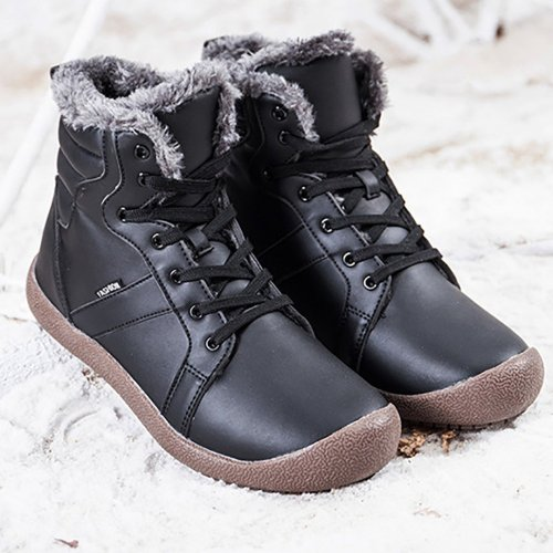 Medium Tube Non-Slip Medium Tube Snow Leather Men Boots
