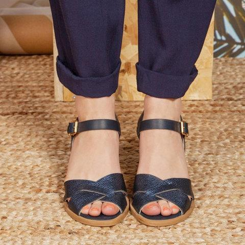 Cross Strap Chunky Heel Peep Toe Summer Heels