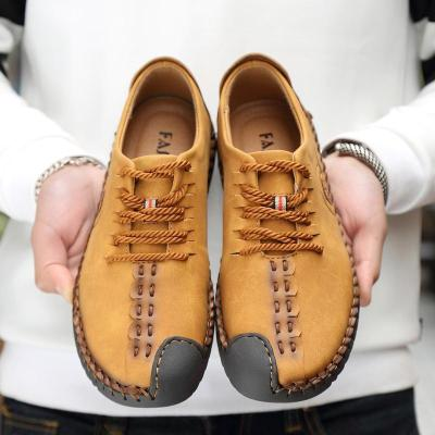 Leather Shoes New Style Breathable Casual Men's Shoes
