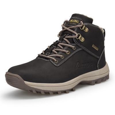 Plush Warm Winter  Big Size Anti Skidding Winter Men Boots