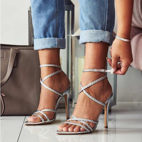 High Heel Pump Ankle Strap Sandals