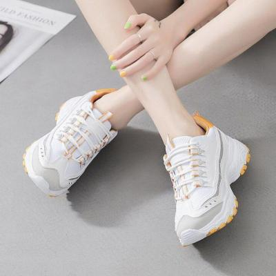 Pu Crisscrossed Lace-Up Sport Casual Sneakers