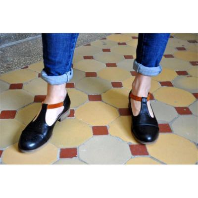Fashion Retro Comfortable Thick   Heel Casual Shoes