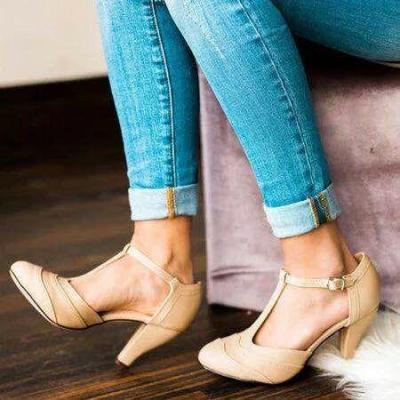 Fashion Summer Buckle Stiletto Heel Sandals