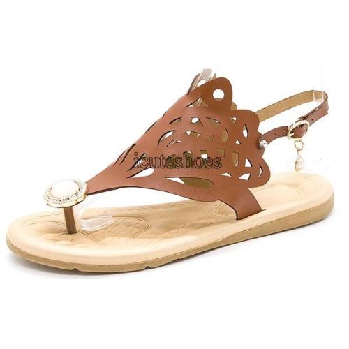 Summer New Women's Shoes Flat Rhinestone Fashion Comfortable Women's Slippers