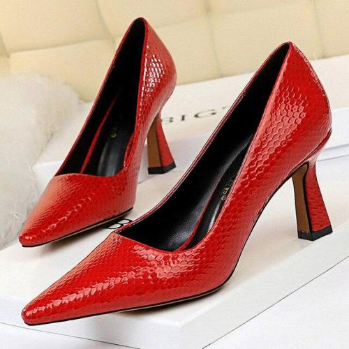 Sexy Kitten Heels Snake Women Pumps Spring Women Shoes High Heels