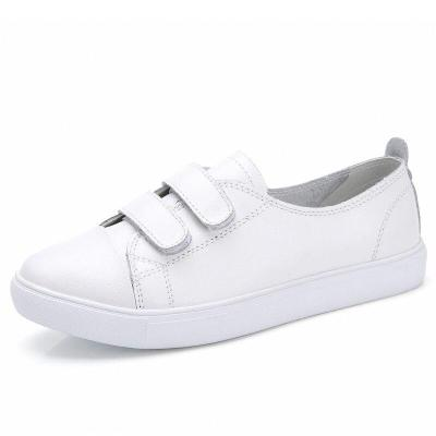 Fashion Women Loafers Flats Woman Lady female Slip On White Genuine Leather Moccasins Casual Shoes