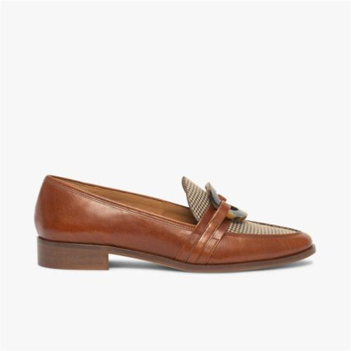 Spring comfort check stitching single shoes