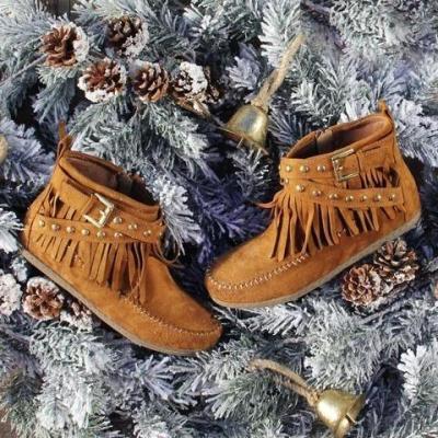 Women's Fashion Tassile Vintage Ankle Boots
