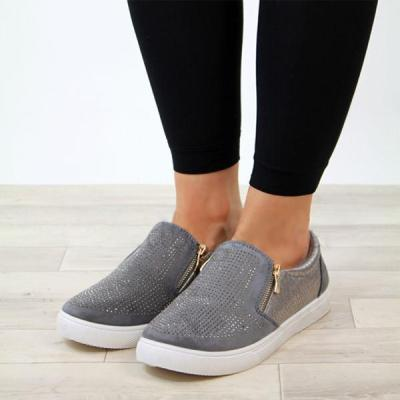 Women Round Toes Casual Shoes Slip On Sneakers