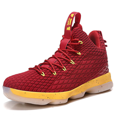 Winter high-top sneakers increase wear-resistant flying woven basketball shoes
