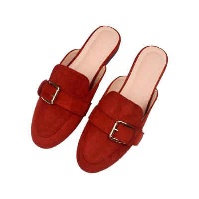 New Flat Slippers Female Wear Round-headed Muller Shoes