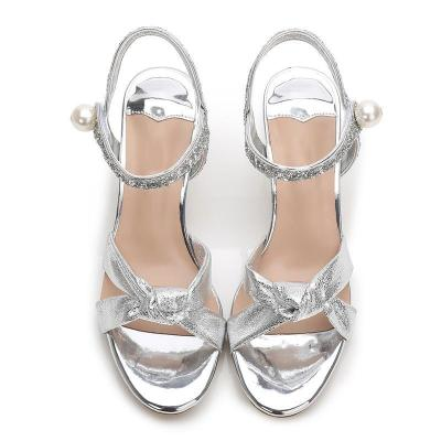Elegant Rhinestone Open Toe Summer Sandals