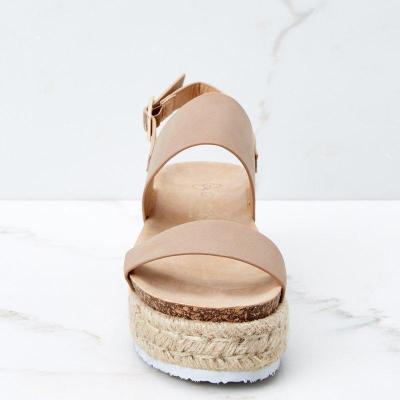 Straw-Weaved Platform Summer Women Sandals