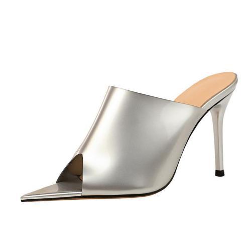 Stiletto Heel Peep Toe Casual Slippers