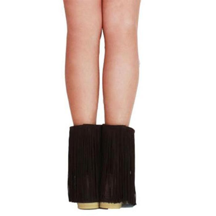Fringe Suede Moccassins Boots