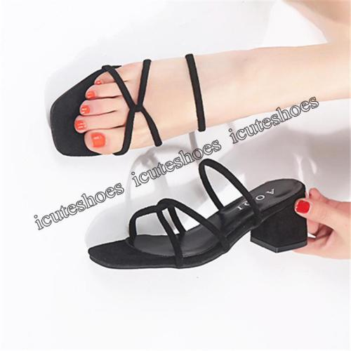 Slippers Women Summer New Style Chunky Heel Slipper Women