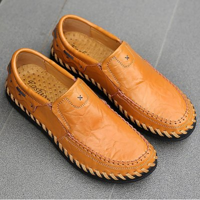 Low Size Leather Breathable Soft Bottom Casual Shoes