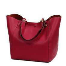 Women Pu Leather Large Capacity Handbags Shoulder