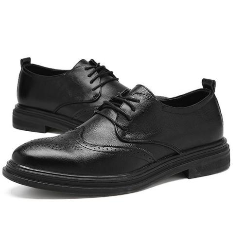 Bullock Carved Leather Shoes