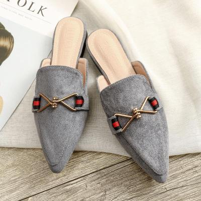 Spring 2020 New Cool Slipper Female Flat Wear Casual Mueller Shoes for Women