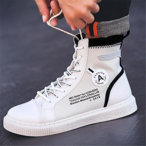 Men's High-Top Hip Hop Casual Canvas Shoes