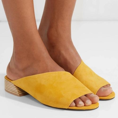 Simple And Versatile Low-Heeled Sandals Slippers
