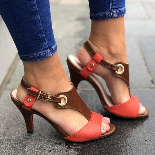 Stiletto Heel Buckle Spring/Fall Pu Casual Women Sandals