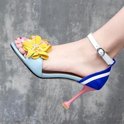 Adjustable Buckle Stiletto Heel Sweet Sandals