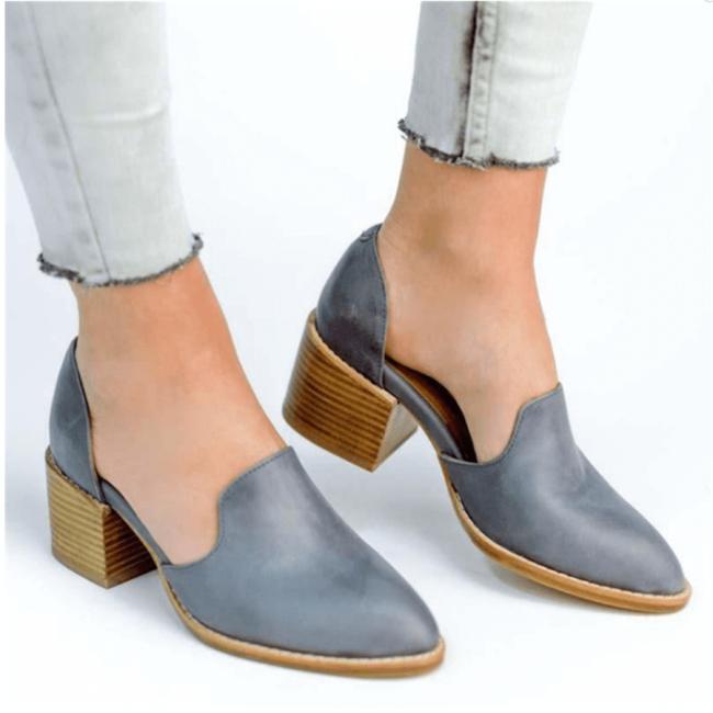 Fashion Rough   With Retro Versatile High Heels