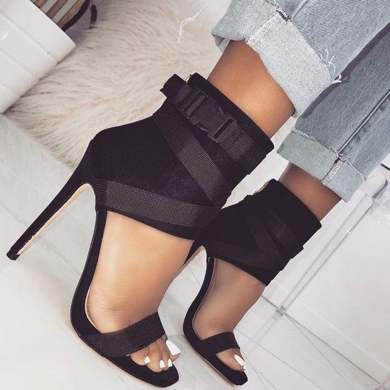 Cross-border Women's Shoes New Fish Mouth Cross-belt High Heel Sexy Sandals